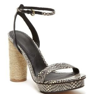 Matisse Snake Print Carmen Platform Sandal NWOT